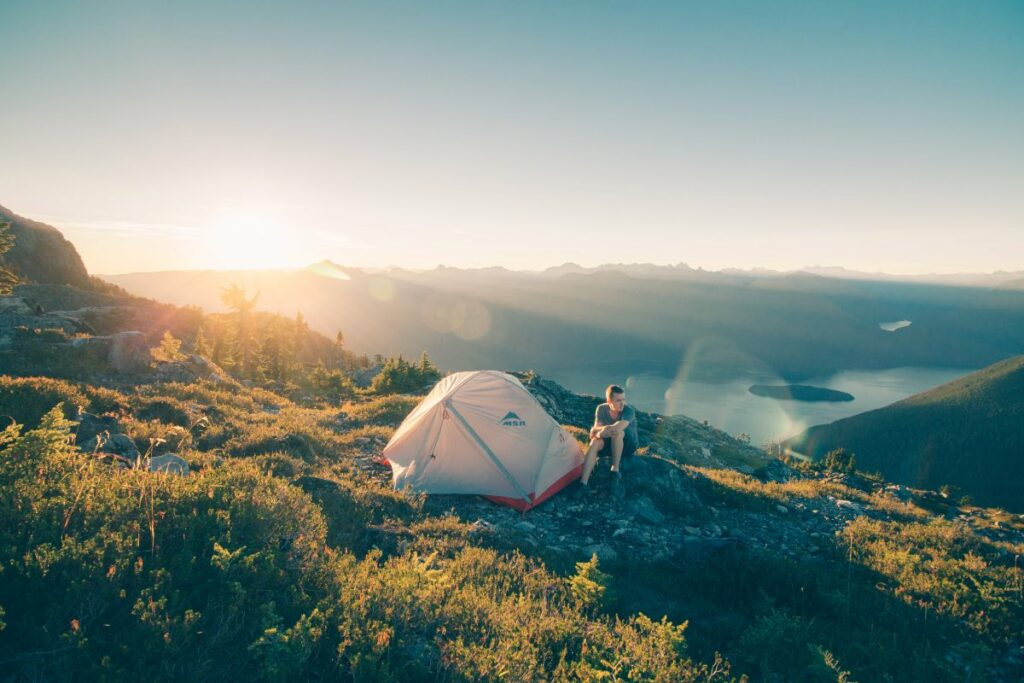 Camping in nature to remove stress