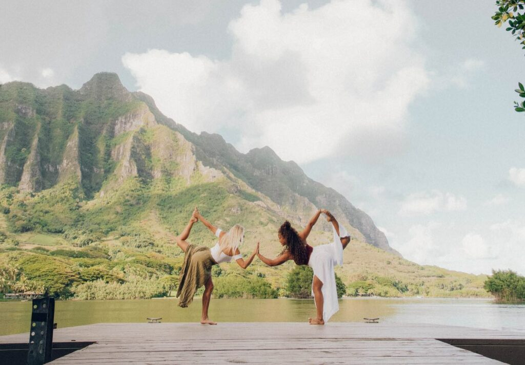 Yoga in nature to remove stress